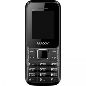 Телефон Maxvi C3 Black, Blue, Marengo, White, Red