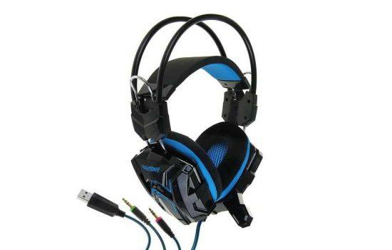 Игровая гарнитура SmartBuy SBHG-1000 RUSH SNAKE Blue с велюровыми амбушюрами