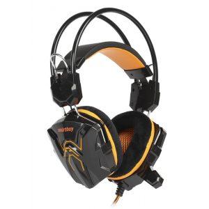 Наушники игровые SmartBuy SBHG-1100 RUSH COBRA Orange с велюровыми амбушюрами