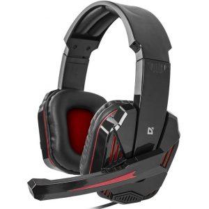 Наушники игровые Defender Warhead G-260 black-red, кабель 1,8 м