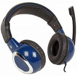 Наушники игровые Defender Warhead G-280 black-blue, кабель 1,8 м