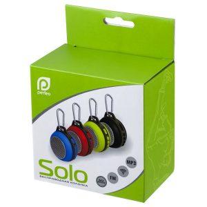 Портативная колонка Perfeo SOLO Bluetooth FM, MP3 microSD, AUX, мощность 5Вт, 600mAh Black, Red, Blue