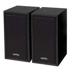 Колонки Perfeo PF-84 Cabinet 2,0 USB, 6Вт Black, Brown