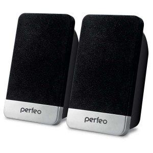 """Колонки Perfeo PF-2079 """"MONITOR"""" 2.0, мощность 2х1.5 Вт (RMS), чёрн, USB"""
