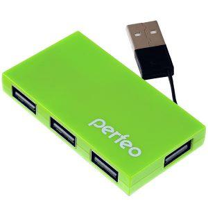 USB-хаб Perfeo USB-HUB 4 Port (PF-VI-H023) Pink, Green