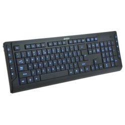 Клавиатура A4Tech KD-600L мультимедиа; 10 доп.клавиш; LED-подсветка USB Black