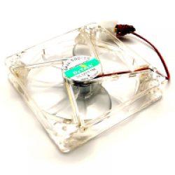 Вентилятор DeTech прозрачный  80мм 4 pin