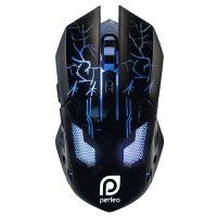 Игровая мышь Perfeo PF-1712-GM QUEST LED 6 кнопок 3200 dpi Black