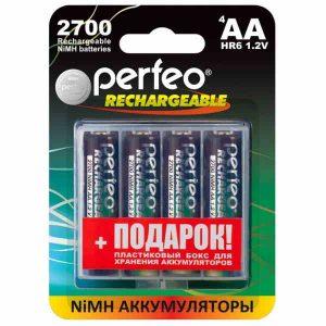Аккумулятор Perfeo AA2700mAh/4BL+BOX