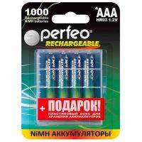Аккумулятор Perfeo AAA1000mAh/4BL+BOX