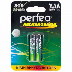 Аккумулятор Perfeo AAA800mAh/2BL