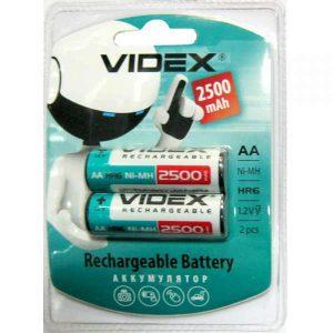 Аккумулятор Videx R06/2bl 2500 mAh Ni-MH (2/20/200)