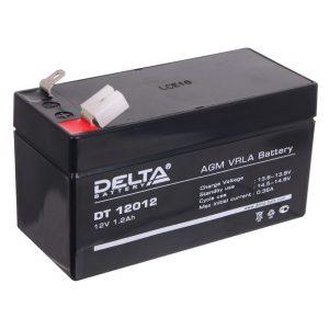 Аккумулятор Delta DT 12012, 12V 1,2Ah, 97х44х59мм, гарантия 1 мес.