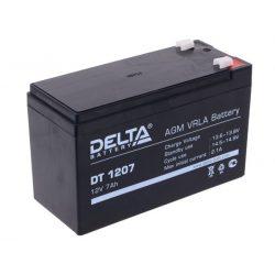 Аккумулятор Delta DT 1207, 12V 7Ah, 151х65х102мм, гарантия 1 мес.