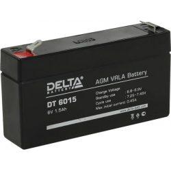 Аккумулятор Delta DT 6015, 6V 1.5Ah, 97x24x58мм, гарантия 6 мес.