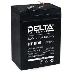 Аккумулятор Delta DT 606, 6V 6Ah, 70х47х107мм, гарантия 1 мес.
