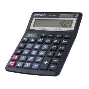 Калькулятор Perfeo PF-A4027 12 разрядный Black