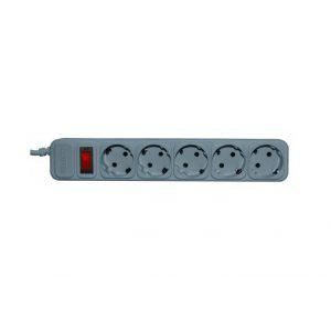 Сетевой фильтр Centek СТ-8900-5-3,0 grey, white, 5 розеток, 3м