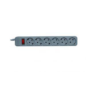 Сетевой фильтр Centek СТ-8901-6-1,8 grey, white, 6 розеток, 1,8 м