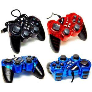 Геймпад DeTech NS3124 12 клавиш, вибро USB Blue, Black, Grey, Red