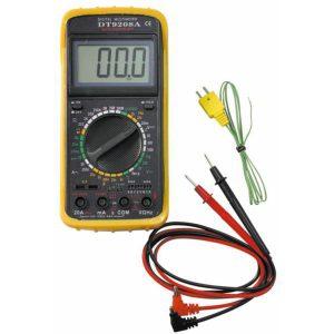 Мультиметр DT 9208A с измерителем температуры