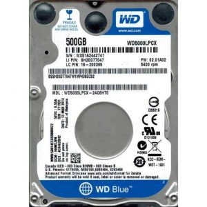 "Жесткий диск Western Digital Blue WD5000LPCX 2.5"" 500Gb SATA III, 16 Mb, 5400 rpm"