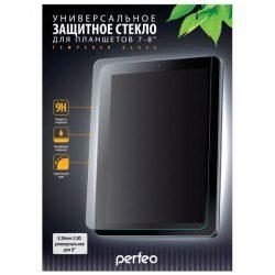 """Защитное стекло универсальное 8"""" Perfeo для планшета 0.26мм 2.5D 9H 120мм×205мм"""