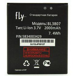 Аккумулятор Fly BL3807 для IQ454, EVO Tech 1  3,7v 2000mAh
