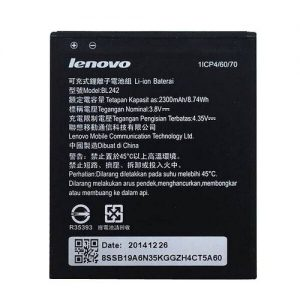 Аккумулятор Lenovo BL-242, K30-T, Lemon K3, A6000, Vibe C A2020, 2300mAh