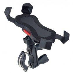 """Держатель для смартфона до 6"""" Perfeo-303 на руль велосипеда или штангу, угловой, черный"""