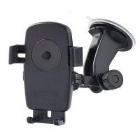 """Автодержатель для смартфона, навигатора до 5"""" Perfeo-502, на стекло, One touch, черный"""