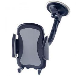 """Автодержатель для смартфона до 6.5"""" Perfeo-517, на стекло, гибкая штанга, черный+серый"""