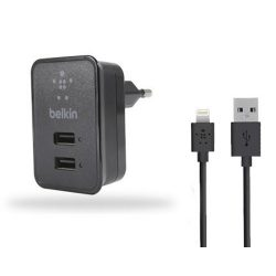 СЗУ Belkin 2USB 2.1A LED +cable iPhone