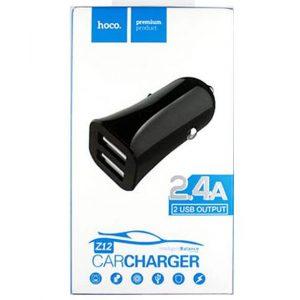 АЗУ HOCO Z12 2USB 2,4A black, white автомобильное зарядное