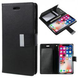Чехол книжка Xiaomi Redmi 4X Goospery Rich Diarty Black искусственная кожа