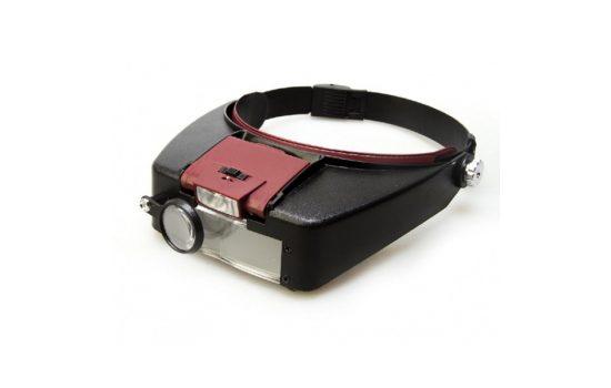 Бинокулярная лупа MG81007-A с подсветкой