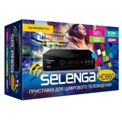 Ресивер DVB-T2 Selenga HD-860 DVB-T2 и DVB-T HD / SD MPEG2 / MPEG4 (H.264)