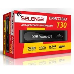 Ресивер DVB-T2 Selenga T30 DVB-T2, Full HD Black
