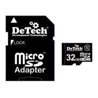 Карта памяти microSDHC 32GB DeTech (Class 10)