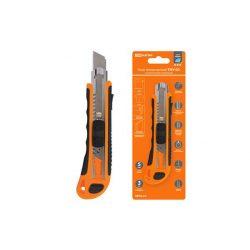 Нож технический (строительный) усиленный, ТНУ-02, 18 мм, 3 сегментированных лезвия, автосмена, серия SQ1033-0102
