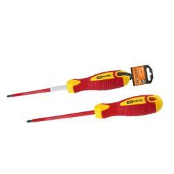 Отвертка шлицевая диэлектрическая тип SL8x175, серия «ЭкспертЭлектрик» TDM SQ1007-0105
