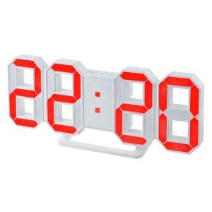 """Часы-будильник """"LUMINOUS"""", белый корпус / красная подсветка PF-663"""