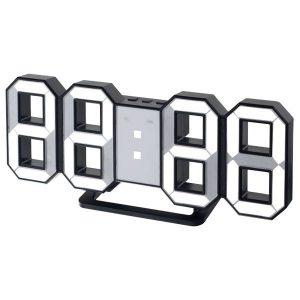 """Часы-будильник """"LUMINOUS"""", черный корпус / белая подсветка PF-663"""
