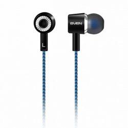Наушники Sven SEB-106 Blue нейлоновая оплетка кабеля