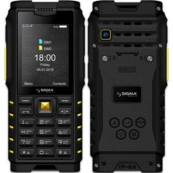 Телефон Sigma X-treme DZ68 Black, Black-Yellow