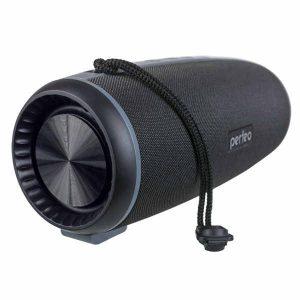Bluetooth колонка Perfeo SHELL FM, MP3 microSD, USB, AUX, 12Вт, 2600 mAh черная (PF_A4333)