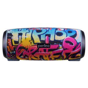 Bluetooth колонка Perfeo HIP HOP FM, microSD, USB, AUX, мощность 12Вт, 2600mAh, граффити (PF_A4336)