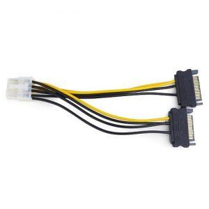 Кабель питания для устройств PCI express SATA вилка Cablexpert 2xSATA / PCI-E 8pin