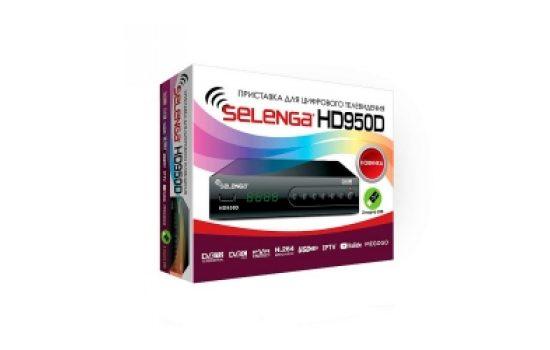 Ресивер DVB-T2 Selenga HD950D DVB-T2, Full HD Black