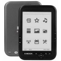 "Электронная книга E-book Reader BK-6006 6"" 4Gb E-ink Touch Screen, MP3 Player"